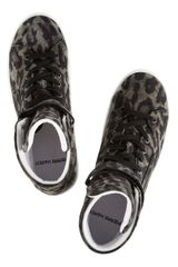 Pierre Hardy Leopardprint Suede Hightop Sneakers in Animal (leopard) - Lyst