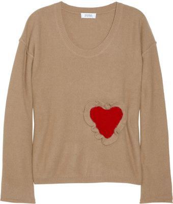 Sonia By Sonia Rykiel Heartappliqué Angorablend Sweater - Lyst