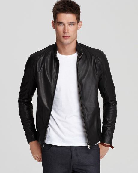 Theory Arvid L Leather Jacket in Black for Men | Lyst