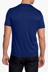 Versace Versace Crewneck Tshirt in Blue for Men - Lyst