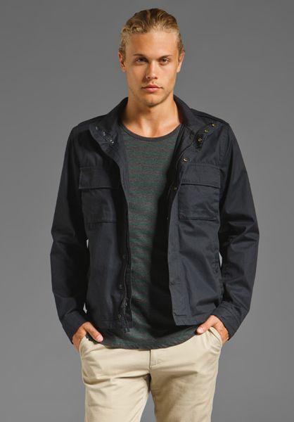 Vince Cargo Pocket Jacket In Blue For Men Coastal Lyst