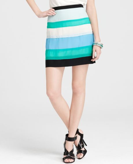 manifold colored pencil skirt in blue surf