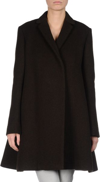 Celine Coat in Brown - Lyst