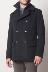 Dolce & Gabbana Peacoat with Detachable Gilet - Lyst