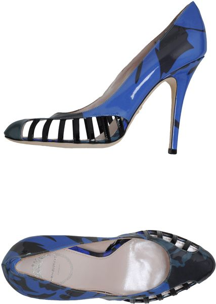 Emilio Pucci Closedtoe Slipons in Blue - Lyst