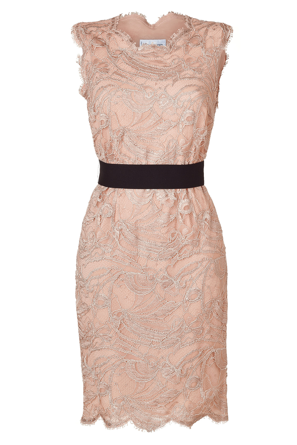 Lyst Emilio Pucci Colonial Rose Lace Dress In Pink