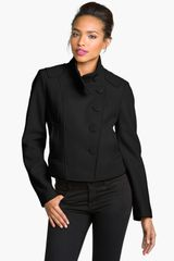 Kenneth Cole Crop Jacket - Lyst