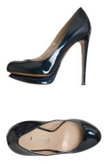 Nicholas Kirkwood Platform Pumps in Blue - Lyst