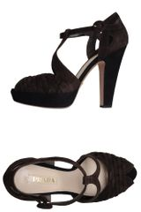 Prada Platform Sandals in Black (brown) - Lyst