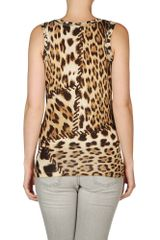 Roberto Cavalli Top in Beige - Lyst