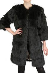 Simonetta Ravizza Long Fox Fur Coat - Lyst