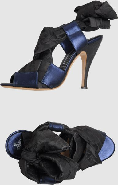 Vivienne Westwood High Heeled Sandals in Black (steel)