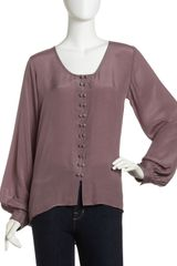 Winter Kate Double Button Blouse - Lyst
