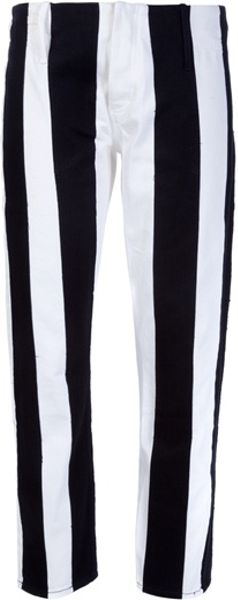 Acne Hip Stripe Trouser in Black - Lyst