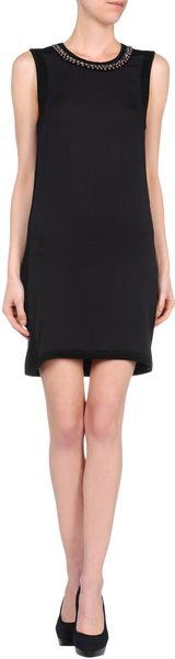 Chloé Short Dress in Black - Lyst