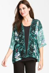 Citron Print Silk Blend Jacket - Lyst