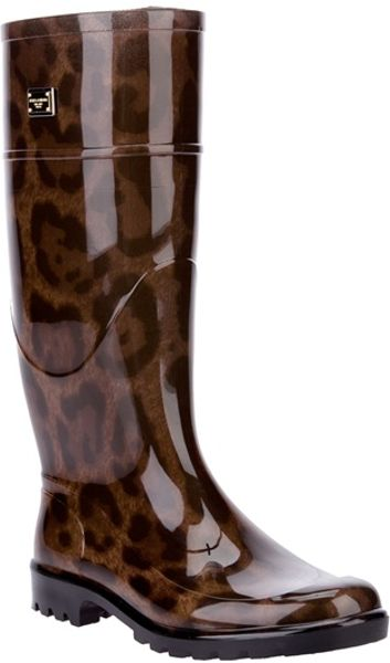 Dolce & Gabbana Leopard Print Wellington Boot in Animal (leopard) - Lyst