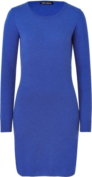 Iris Von Arnim Royal Blue Falcon Knit Dress - Lyst