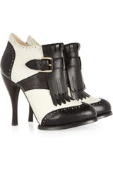 McQ by Alexander McQueen Twotone Leather Ankle Boots - Lyst