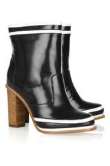 Diane Von Furstenberg Rubber and Leather Ankle Boots - Lyst