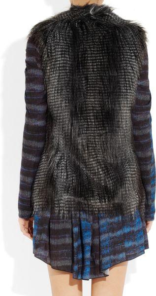 Dkny Faux Fur Vest In Black Lyst