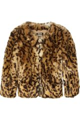 Dkny Animal Print Faux Fur Jacket in Animal (leopard) - Lyst
