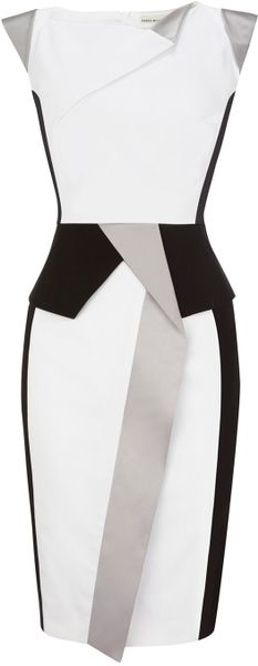 Karen Millen Colourful Sculptural in White - Lyst