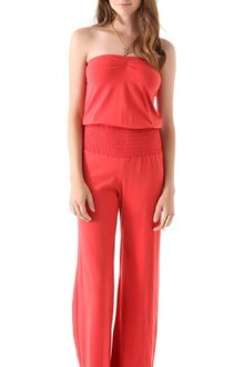 Nightcap Clothing Smocked Baja Jumpsuit - Lyst