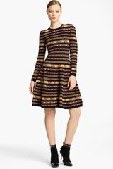 Valentino Multicolored Stretch Knit Dress - Lyst