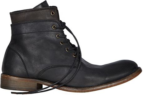 Allsaints Cropped Layer Boot in Black for Men (mountain)
