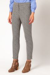 Asos Collection  Super Skinny Trousers in Herringbone Print in Gray (blackwhite) - Lyst