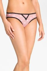 Betsey Johnson Heartbeat Lace Trim Bikini - Lyst