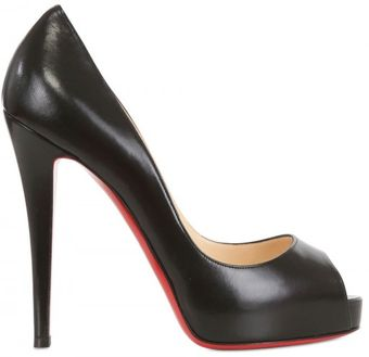 Christian Louboutin 120mm Very Prive Kid Open Toe Pumps - Lyst