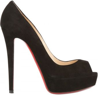 Christian Louboutin 140mm Banane Suede Open Toe Pumps - Lyst