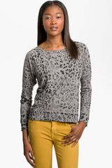 Current/Elliott Letterman Print Sweatshirt - Lyst