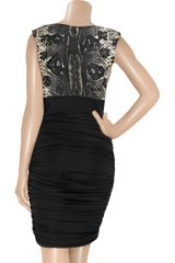 Giambattista Valli Pythonprint Wool and Silkblend Dress in Black - Lyst
