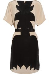 Jill Stuart Adrian Paneled Silk Crepe Dress in Black - Lyst