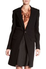 Lanvin Car Coat in Black - Lyst