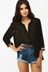 Nasty Gal Sheet Metal Blouse - Lyst