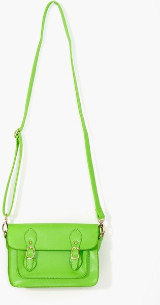 Nasty Gal Neon Satchel  in Green - Lyst