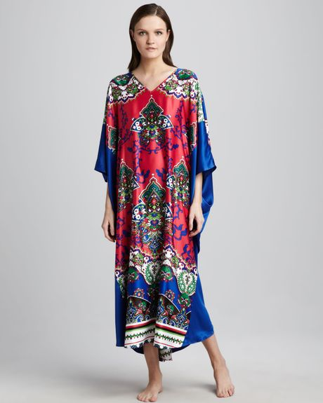 Natori Amidala Caftan in Pink (multi colors) - Lyst