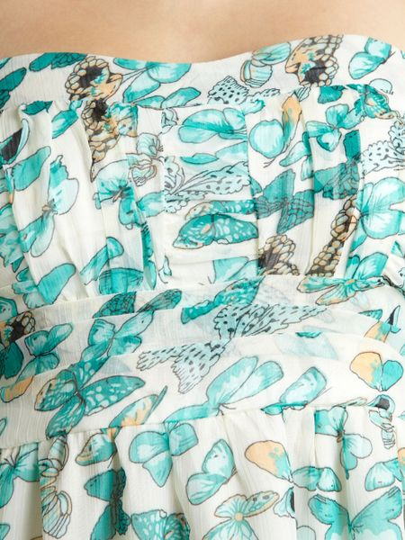 Pussycat Butterfly Dip Hem Dress In Blue Aqua Lyst