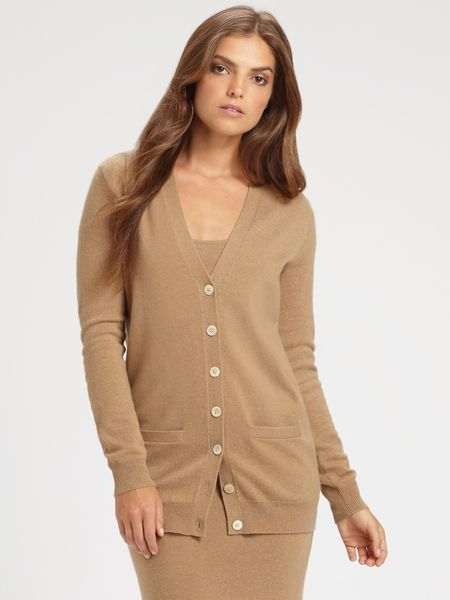 Cardigan Camel Cashmere - Gray Cardigan Sweater