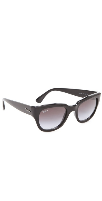 ray ban new wayfarer sunglasses glossy black  gallery. previously sold at: shopbop · women's wayfarer sunglasses