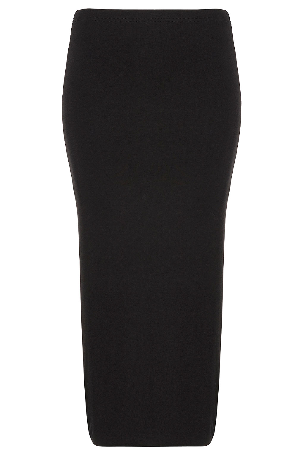 Topshop Black Double Layer Tube Skirt in Black | Lyst