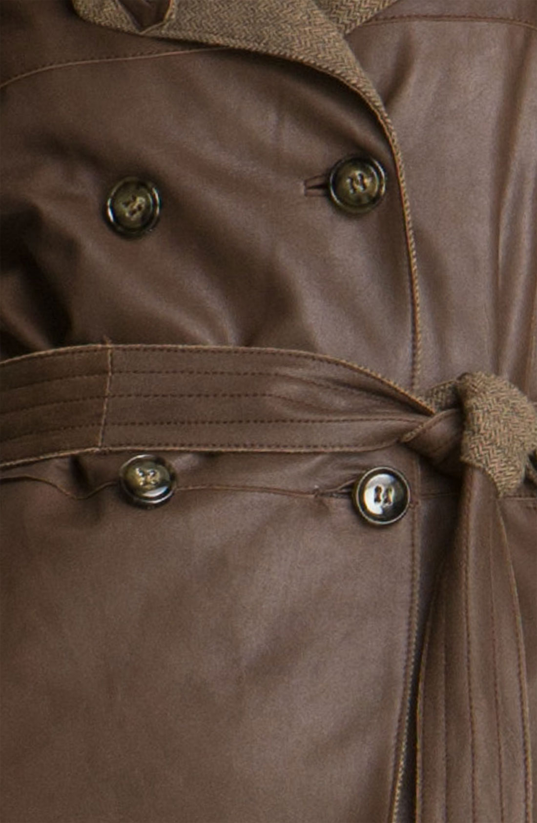 Details about Weekend By Maxmara Brown Alvaro Leather Jacket ( Size