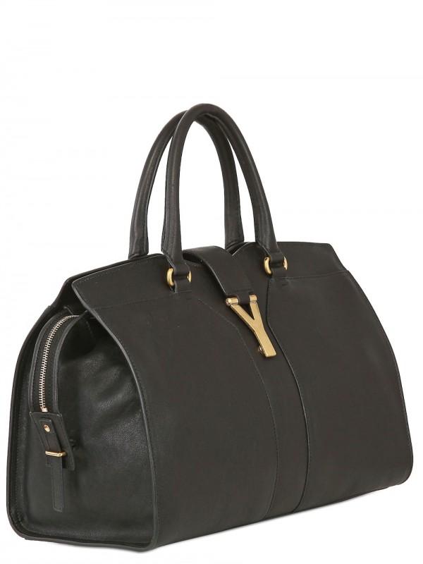 ysl replica handbag - Saint laurent Medium Cabas Chyc Soft Leather Bag in Black | Lyst