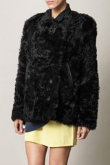 Acne Alison Shearling Coat - Lyst