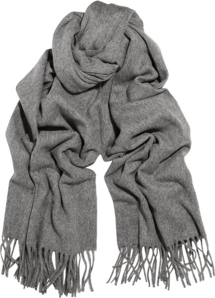 Acne Canada Fringed Wool Scarf in Gray - Lyst
