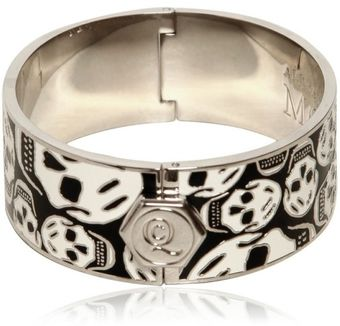 Alexander McQueen Skulls All Around Brass Bracelet - Lyst